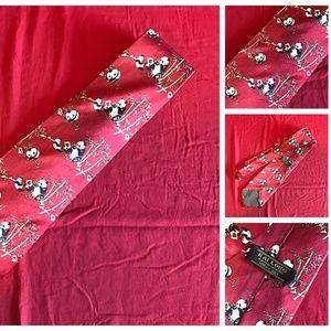 Kai Long Hand Made Silk Necktie Red Panda Bamboo